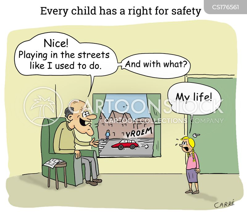 road safety cartoon