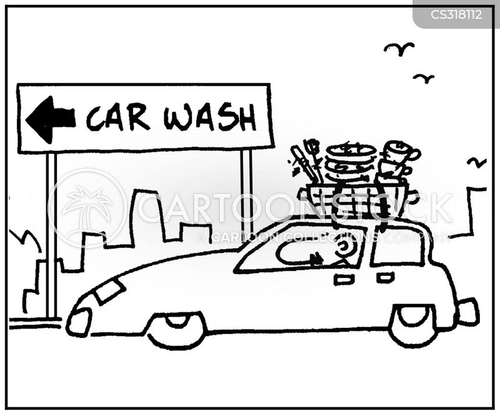 dish-washing cartoon