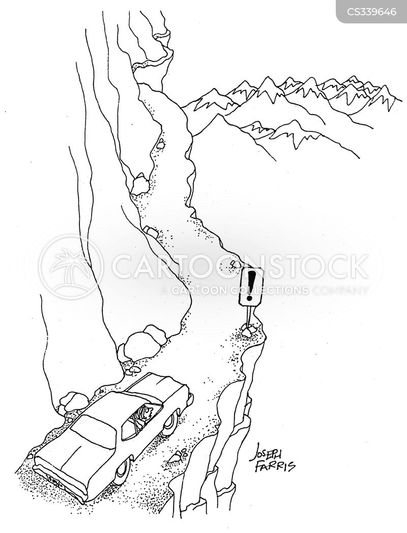 mountainside cartoon
