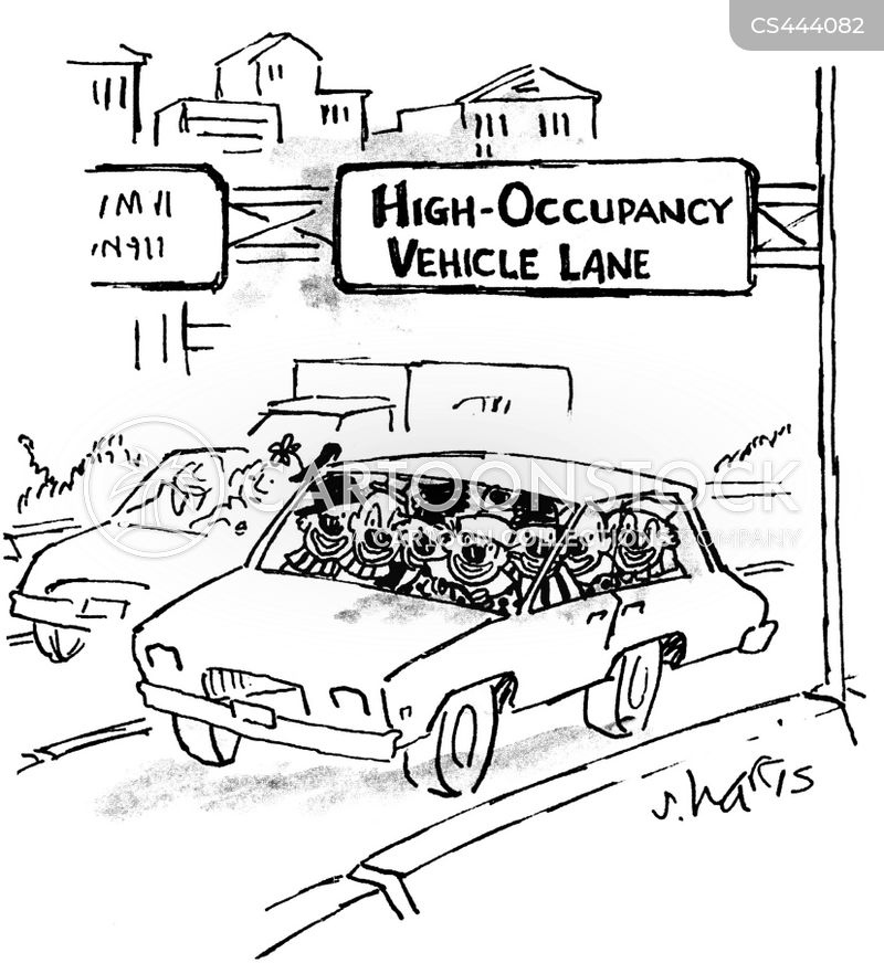 carpool lane cartoon