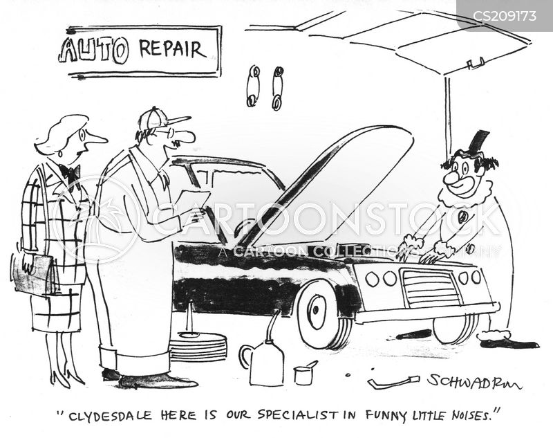 auto repair cartoon