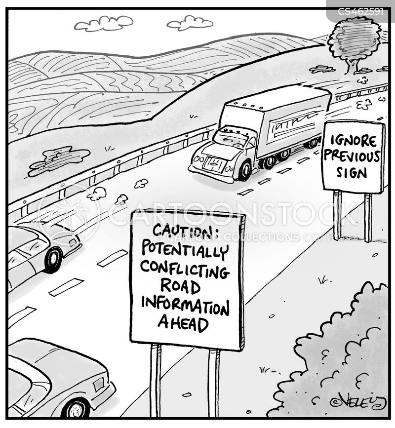 conflicting information cartoon