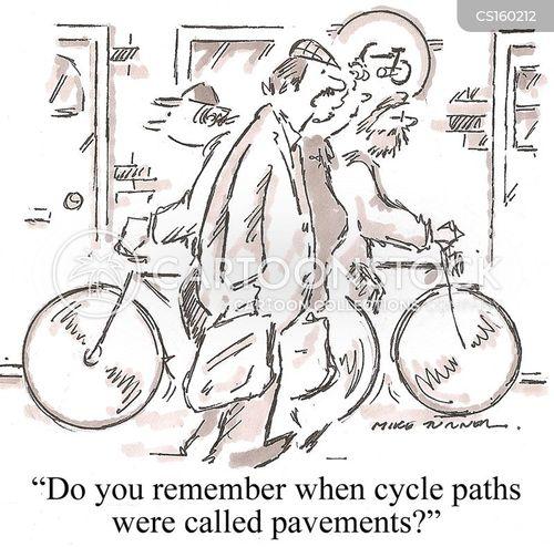 cycle path cartoon