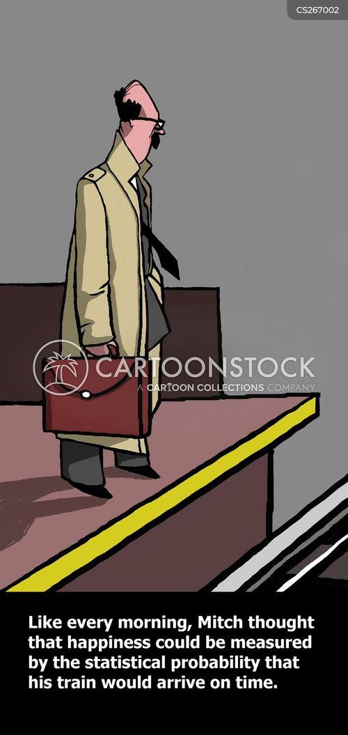 morning commute cartoon