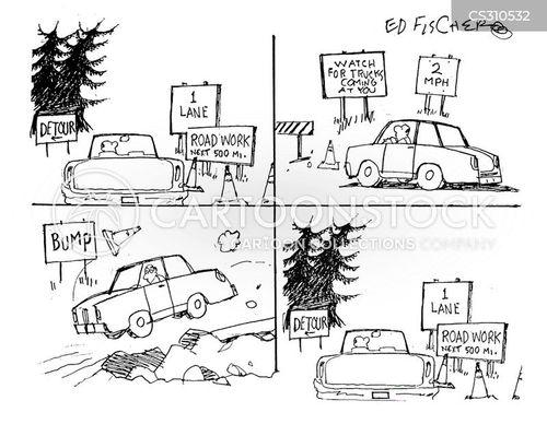 road repairs cartoon