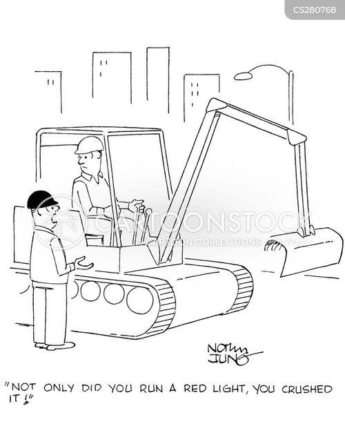 backhoe cartoon