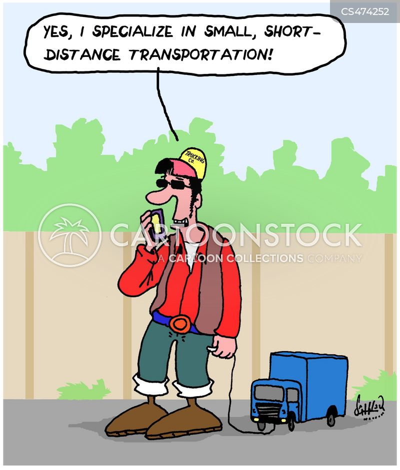 delivery drivers cartoon