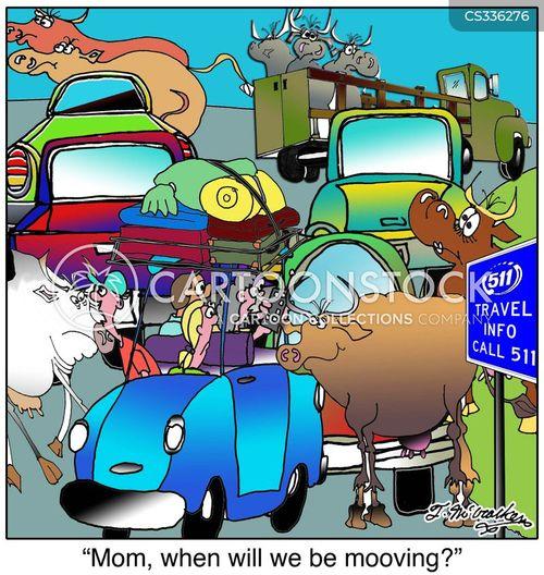 escaped cow cartoon