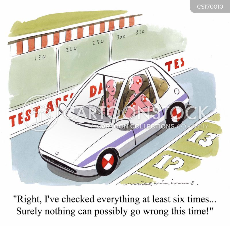 crash test cartoon