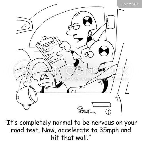 safety testing cartoon