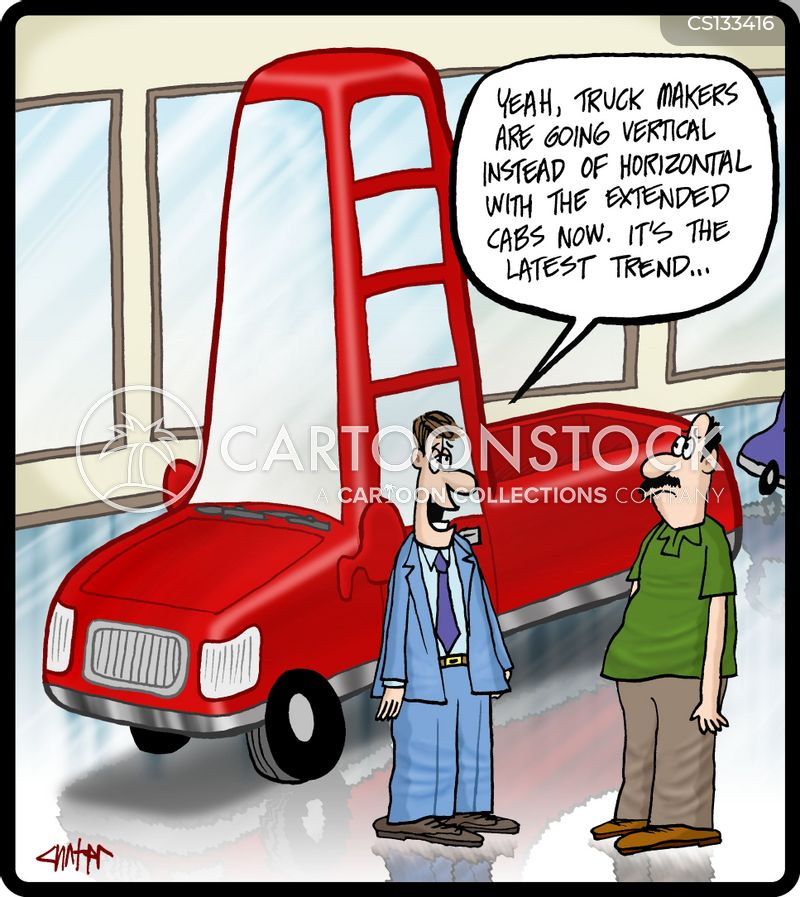 car lot cartoon