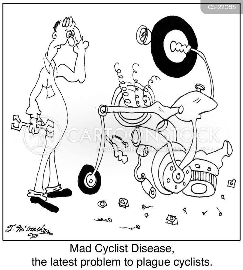 bike mechanic cartoon