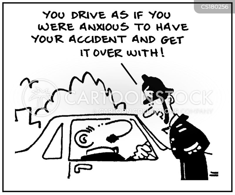 dangerous drivers cartoon
