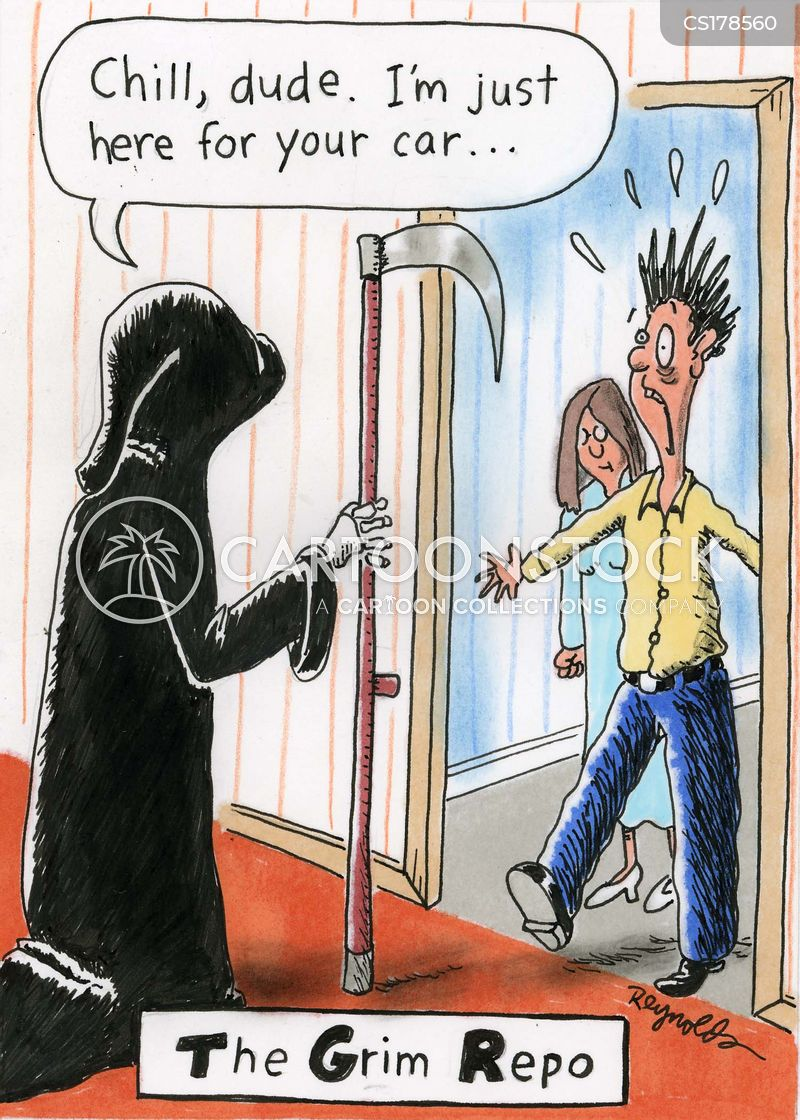 repossession cartoons and comics funny pictures from cartoonstock