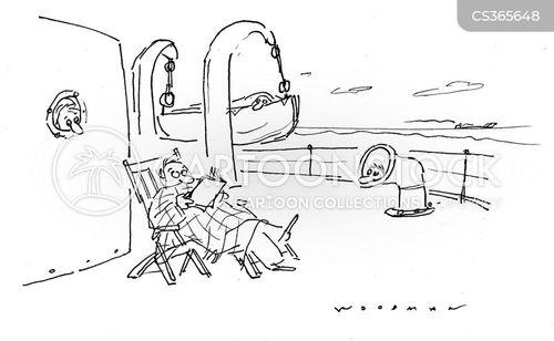deckchair cartoon