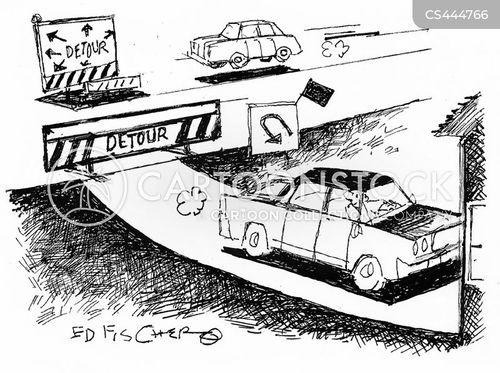 interstate travel cartoon