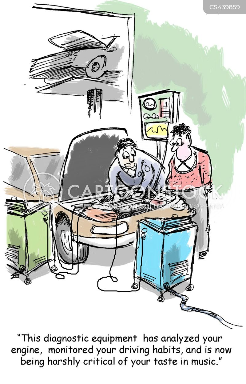 diagnostic machines cartoon