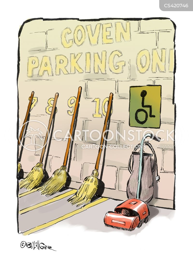 disabled parking cartoon
