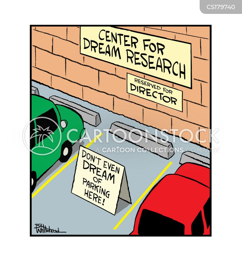 reserved parking space cartoon