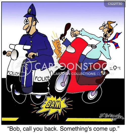 break the law cartoon