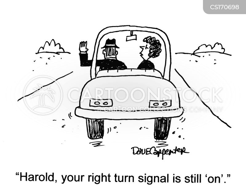 hand signal cartoon