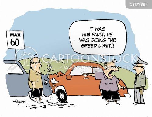 speed limits cartoon