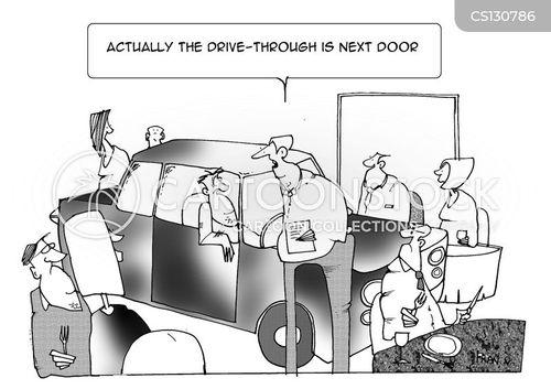 drive-thrus cartoon