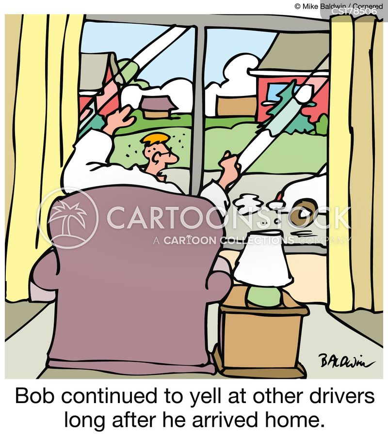 aggressive drivers cartoon