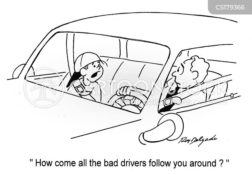 driving skills cartoon