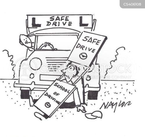 drivers education cartoon