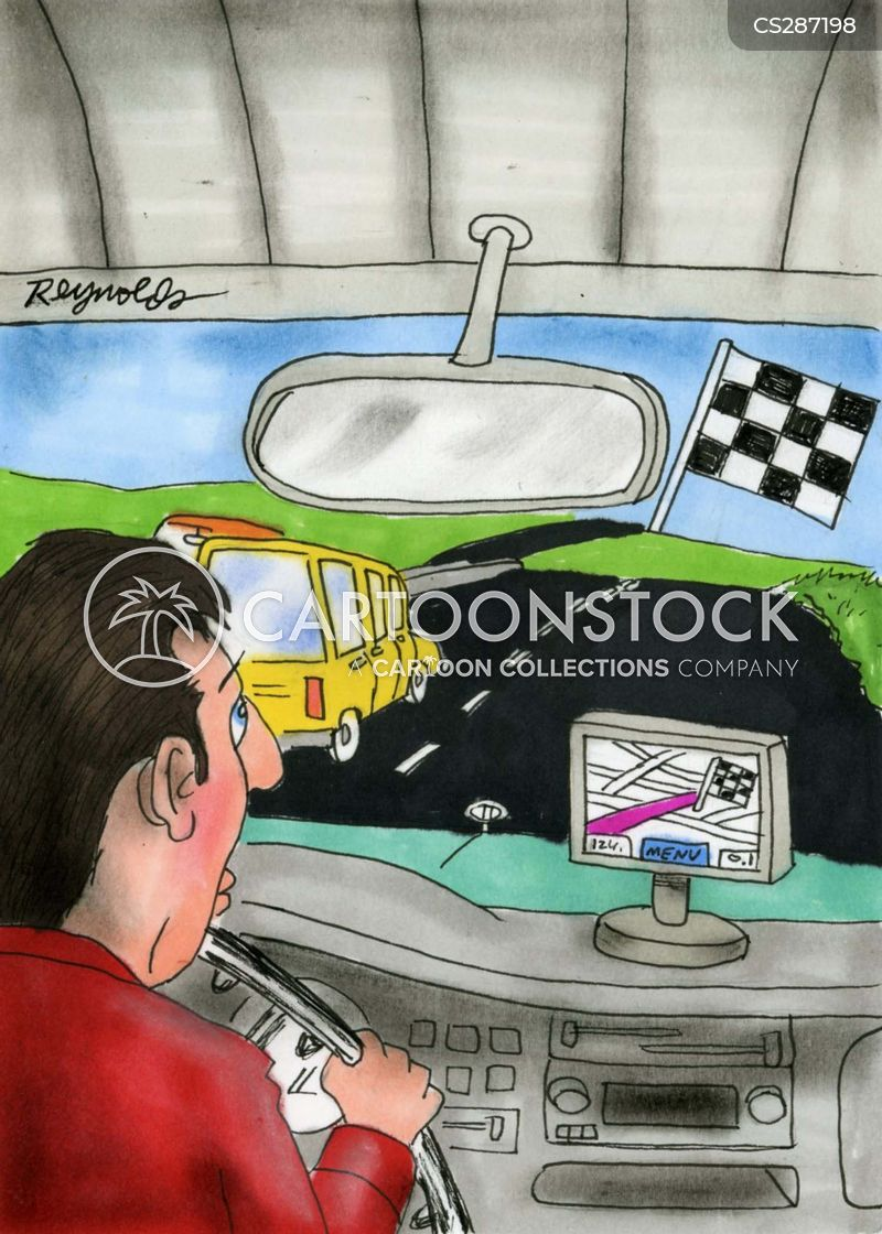 Gps Systems Cartoons and Comics - funny pictures from CartoonStock