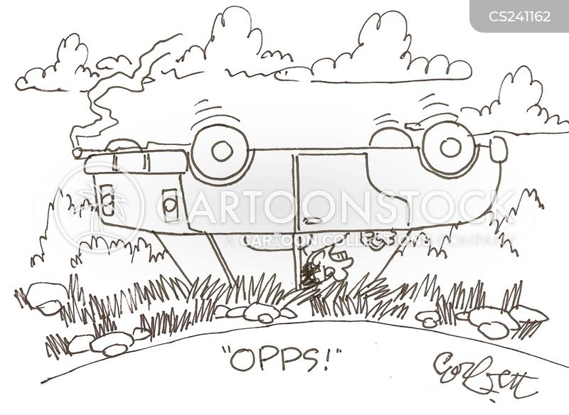 driving accidents cartoon