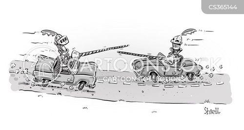 jousters cartoon
