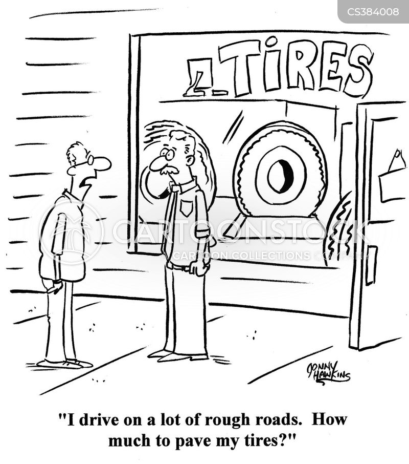 tire sales cartoon