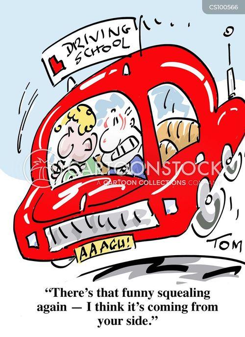 driving school cartoon