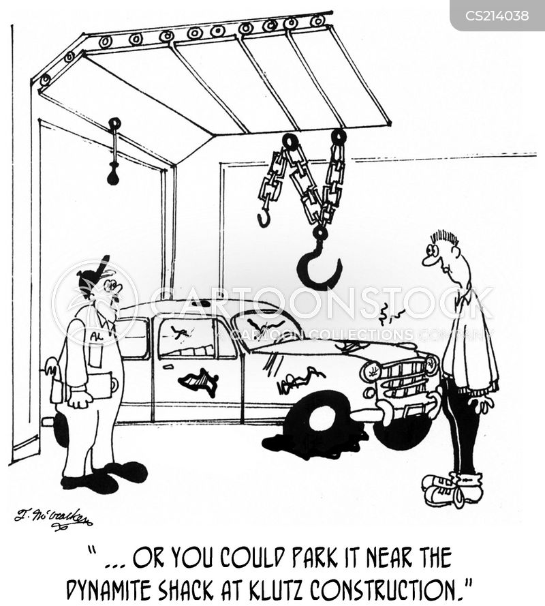 junk yard cartoon