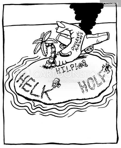 Plane Crash Cartoon