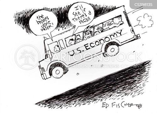 downhill trend cartoon