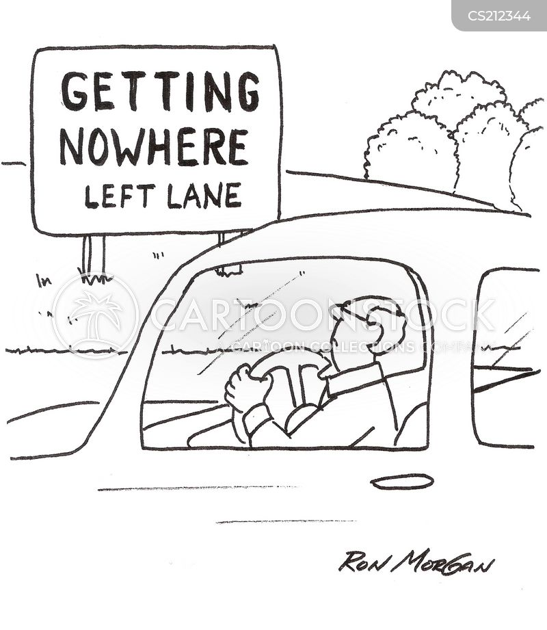left lanes cartoon