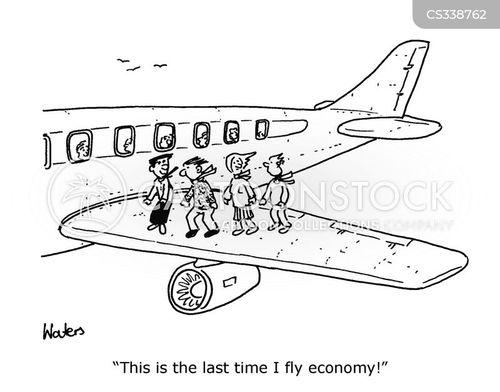 economy classes cartoon