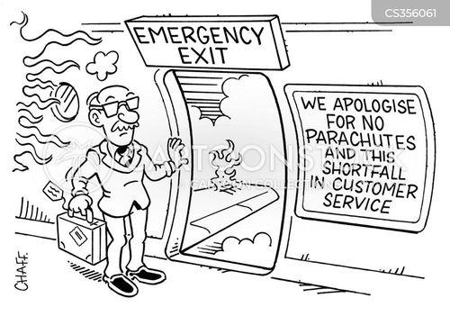 emergency exits cartoon