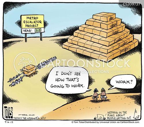 escalators cartoon