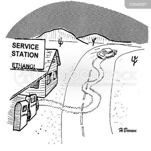 fuel station cartoon