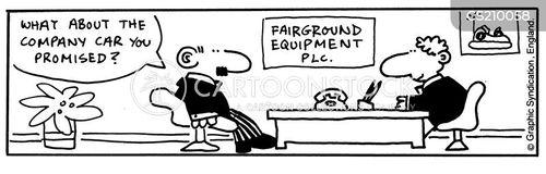fairground equipment supplier cartoon