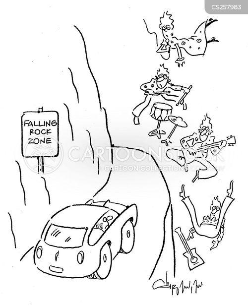 cliff faces cartoon