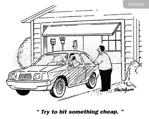 traffic accidents cartoon