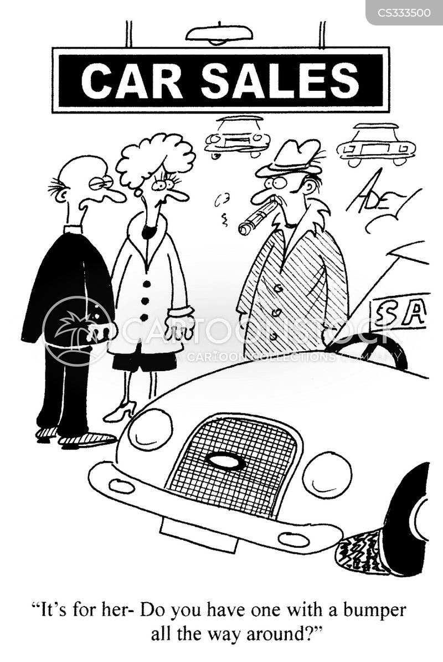 car lots cartoon
