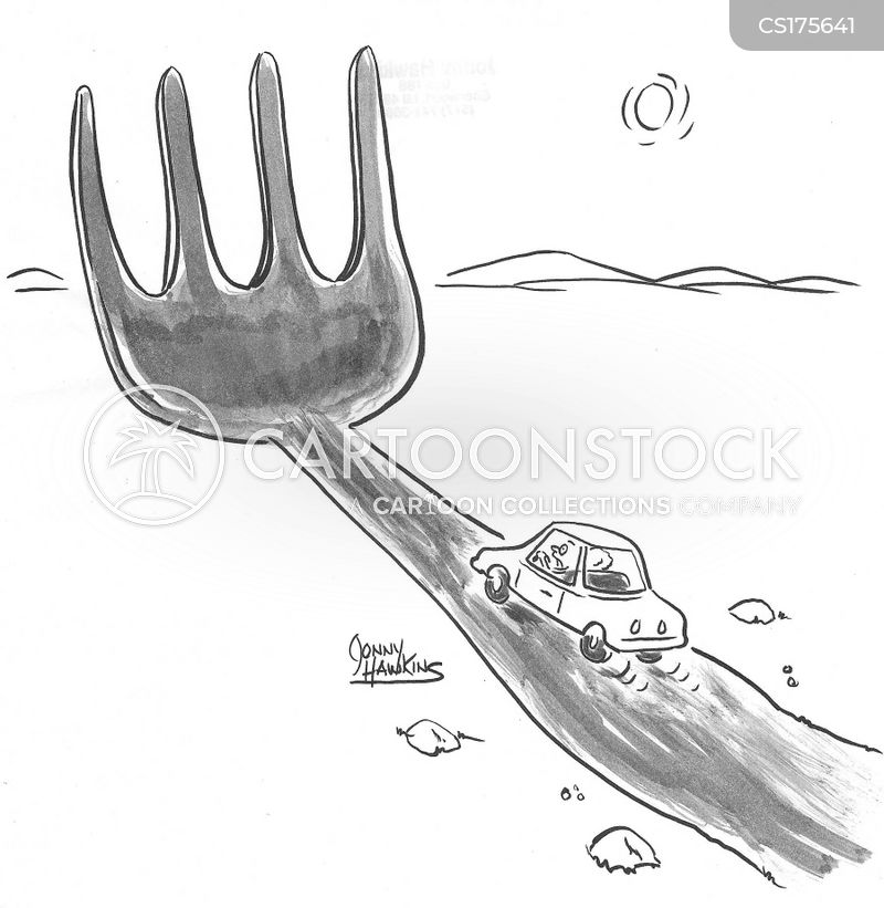 fork in the road cartoon