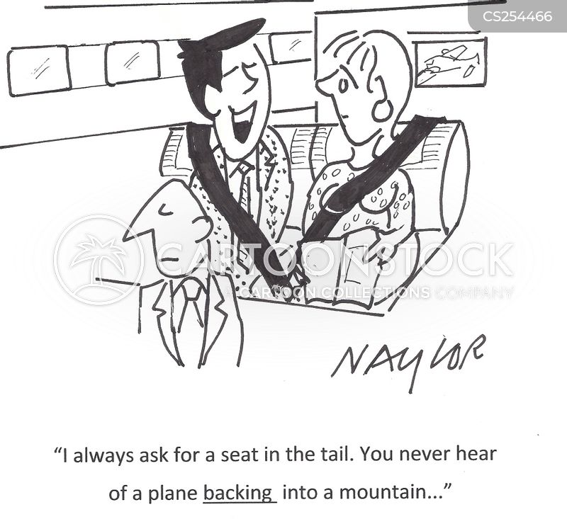 fear of flying cartoon