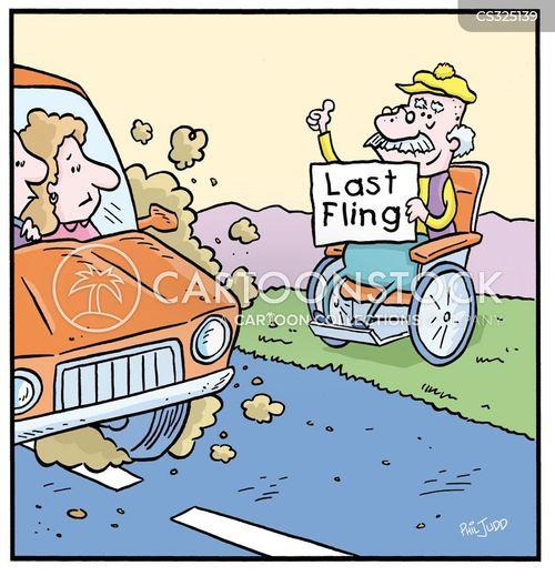 hitchikers cartoon